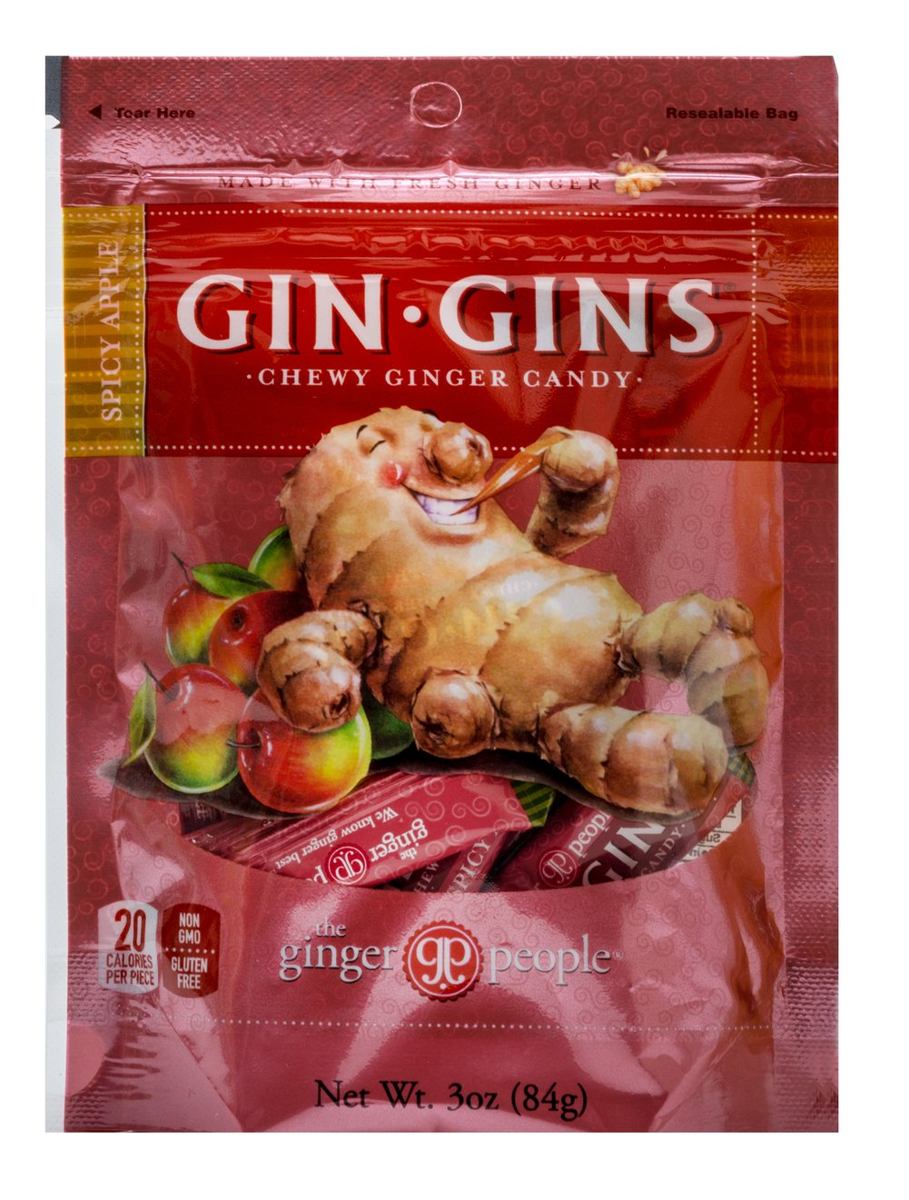 Spicy Apple Ginger Chews  3 oz Bag  $3.99
