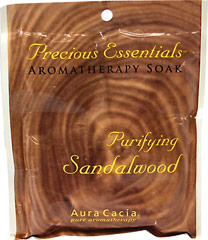 Purifying Sandalwood Bath Soak <p>Purifying Sandalwood, Precious Essentials™ Aromatherapy Soak </p> <p>Pour desired amount into a full tub for maximum effervescence.</p>  2.5 oz Salt