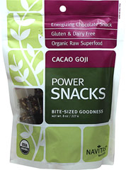 Organic Cacao Goji Super Food Power Snack <p>These delicious snacks are made from the most nutrient-dense plants found in nature, packed with functional food stars like cacao, maca, chia, and camu-camu. </p> <p>• Gluten & Dairy Free </p> <p>•High in fiber and Vitamin C</p> <p>•No Refined Sugar</p>   8 oz Bag  $8.99