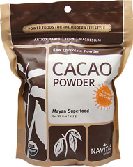 Organic Raw Cacao Powder <p><strong>From The Manufacturers Label:</strong></p><p><strong></strong></p><p>The bean of the cacao plant is the nutritional and flavorful source for all chocolate and cocoa products. Use this for desserts, baking, sauces, spreads, smoothies and beverages.</p> 8 oz Powder  $17.99