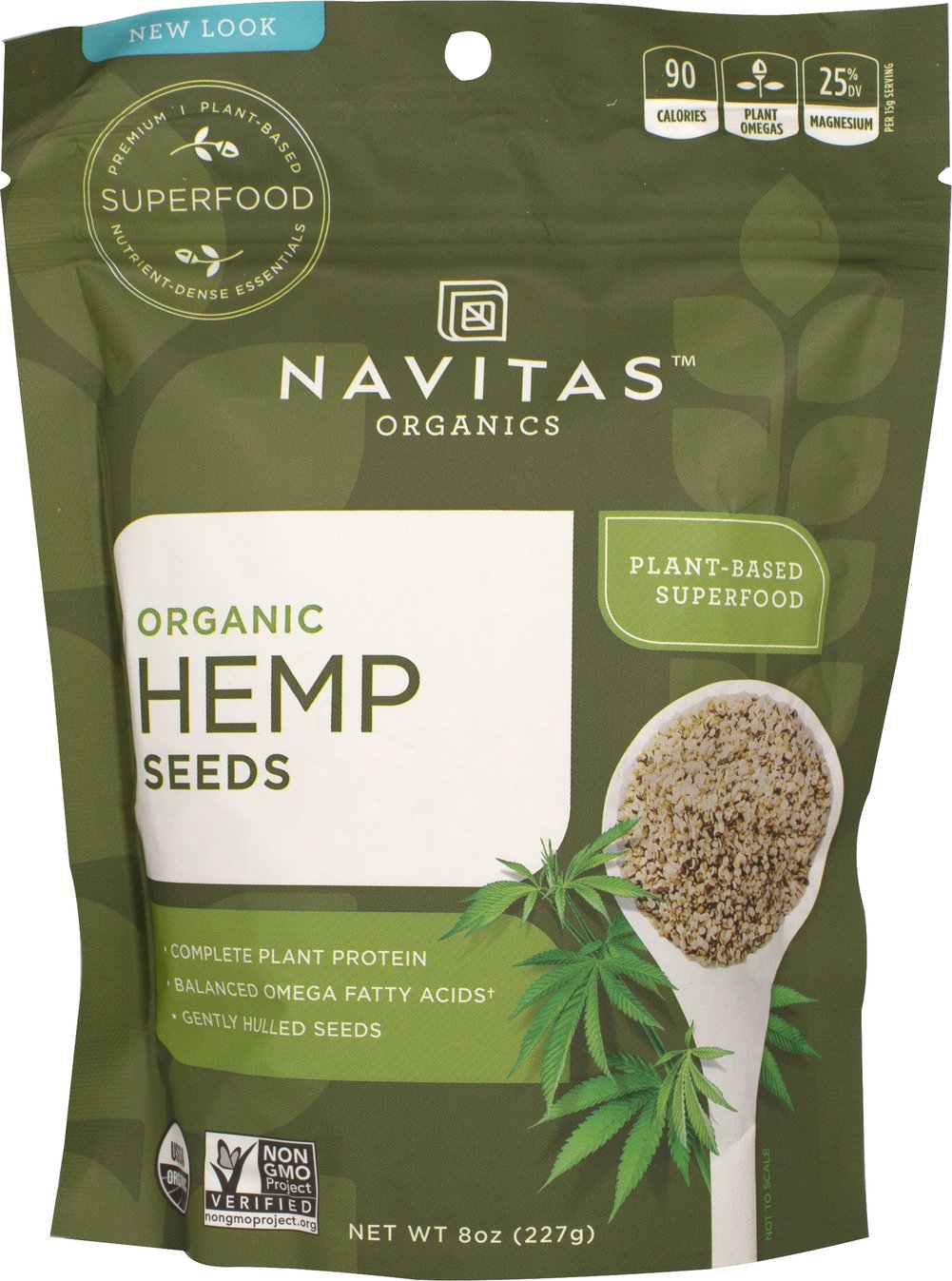 Raw Shelled Hemp Seeds <B>From The Manufacturers Label:</B> <P>Hemp is one of the earliest known cultivated plants with a history dating back thousands of years.  Navitas Naturals 100% pure shelled hemp seeds are certified organic, kosher, vegan, gluten-free and raw.  Use this Kashmir Superfood in smoothies, cereals and salads.</P>  8 oz Seeds  $19.99