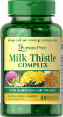 Milk Thistle Complex with Dandelion & Turmeric <ul><li>For centuries, Milk Thistle (Silymarin) has been trusted for its healthy properties. </li><li>Turmeric contains curcumin, a carotenoid pigment. <br /></li></ul><p>This Milk Thistle Complex with Dandelion & Turmeric combines ancient Chinese, Ayurvedic, and Native American herbal traditions into one convenient rapid release capsule. Includes 100 rapid release capsules.</p><p&