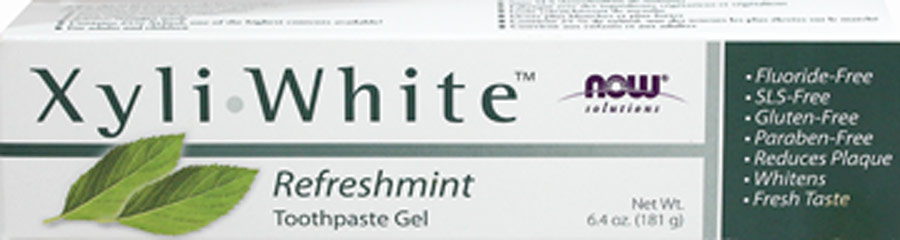 Xyliwhite Refreshmint Toothpaste Gel Fluoride-Free <p><strong>From the Manufacturer's Label:</strong></p><p>Xyliwhite Refreshmint Toothpaste Gel Fluoride-Free is manufactured by NOW® Foods.</p> 6.4 oz Paste  $3.19