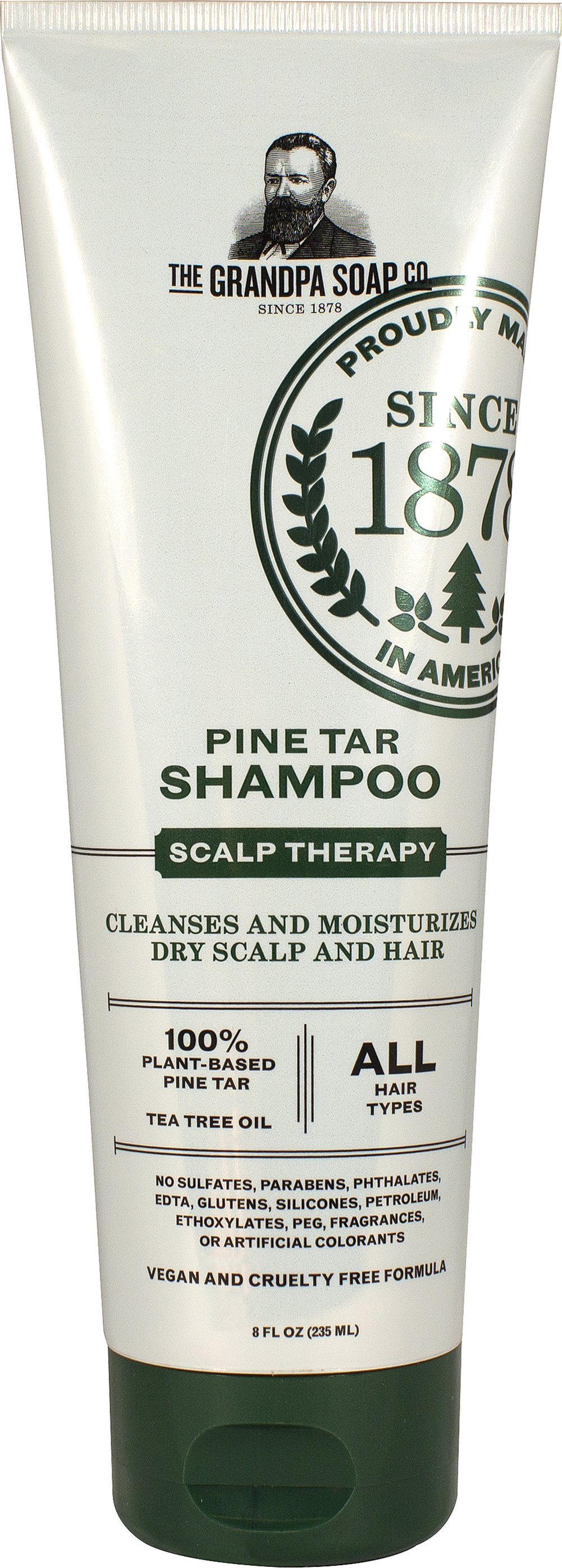 Pine Tar Shampoo <p><strong>From the Manufacturer's Label</strong></p><p>Helps to Remove Flakes of Dandruff, Seborrhea & Psoriasis</p><p>Manufactured by Grandps's.</p> 8 fl oz Shampoo  $9.99
