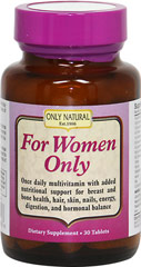 For Women Only <p><strong>From the Manufacturer's Label:</strong></p><p>For Women Only is a unique dietary supplement designed to support the nutritional needs of today's active women*</p><p>Manufactured by Only Natural</p> 30 Tablets  $9.79