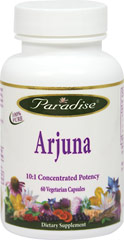 Arjuna 250 mg 10:1 Extract <p><strong>From the Manufacturer's Label:</strong></p><p>10:1 Concentrated Potency</p><p>Manufactured by Paradise Herbs.</p><p></p> 60 Vegi Caps 250 mg $10.99