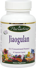 Jiaogulan 250 mg 12:1 Extract <p><strong>From the Manufacturer's Label:</strong></p><p>Jiaogulan 250 mg 12:1 Extract is manufactured by Paradise Herbs.</p> 60 Vegi Caps 250 mg $9.99