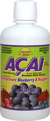 Acai Plus Juice Blend <p><strong>From the Manufacturer's Label: </strong></p><p></p>Acai Plus Juice Blend is a unique mixture of juices. In addition to Acai, it includes  pomegranate, raspberry, and blueberry to create a powerful antioxidant drink cocktail. <br /><br />This great tasting juice uses all of these ingredients to promote overall health<br /><br />Manufactured by Dynamic Health.<br /><p></p> 32