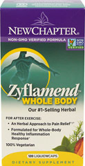 Zyflamend® <p><strong>From the Manufacturer's Label: </strong></p><p>Healthy inflammation response**</p><p>Normal cardiovascular and joint function**</p><p>New Chapter's patented Zyflamend® formulation represents a scientific breakthrough in promoting a healthy inflammation response.** Recent research studies suggest this may be an effective strategy to promote healthy joint function and normal cell growth.**</p><p>M