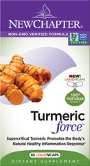 Turmeric Force <p><strong>From the Manufacturer's Label: </strong></p><p></p>The full spectrum of beneficial compounds found in Turmeric Force is delivered using a supercritical extraction, whole-food approach to herbal supplementation. Our full-spectrum process extracts precious plant compounds to preserve Nature's full complexity, delivering super-pure, super-potent herbal extracts.<br /><br />Manufactured by New Chapter®<p></p&