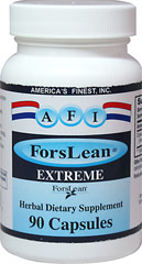 Forslean Extreme 250 mg <p><strong>From the Manufacturer's Label: </strong></p><p>America's Finest, Inc. blends the rich herbal wisdom of ancient cultures. <br /></p><p></p> 90 Capsules 250 mg $24.99