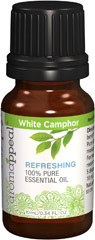 White Camphor 100% Pure Essential Oil White Camphor has a fresh, slightly leafy aroma that clarifies your mindset, leaving you feeling balanced, enlightened, and uplifted. Its invigorating scent will heighten your senses.  10 ml Oil  $9.99