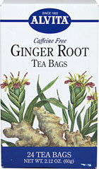 Ginger Root Tea <strong></strong><p><strong>From the Manufacturer:</strong></p><p>Caffeine Free</p><p>Ginger is a tropical perennial that grows from an aromatic, tuberous rhizome that is knotty shaped and buff colored. Used as a  spice for cooking, Ginger is also used for its soothing properties.  Ginger is available fresh, dried ground, and in dried pieces.  It can be added to beverages, fruits, salads, meats, poultry, and vegetable