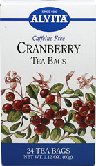 Cranberry Tea <b><p>From the Manufacturer:</b><p>Caffeine Free</p> <p>Natural herb teas that are good for you and the environment.</p> <p>Known for their tangy, refreshing taste, Cranberries (Vaccinium macrocarpon) were supposedly part of the first Thanksgiving in 1621, but did not become a national tradition until after the Civil War.  A small evergreen shrub, which grows in mountain forests and damp bogs from Alaska to Tennessee, the Cranberry bu