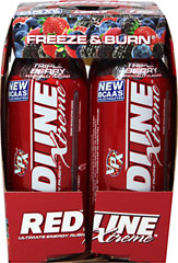 Redline Xtreme Rtd Triple Berry <p><b>From the Manufacturer's Label: </p></b><p>Ultimate Energy Rush!™**</p>  <p>Recommended Use: Shake well prior to use. Always begin use with one-half can (4 oz.) of Redline® daily to assess tolerance. Never exceed more than one can daily. Do not consume Redline® on an empty stomach. Consuming Redline® on an empty stomach may cause nausea.</p>  4 pack-8 oz Liquid  $8.49