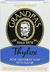 Thylox Acne Soap With Sulfur <p><strong>From the Manufacturer's Label</strong></p><p>Thylox Acne Soap With Sulfur is manufactured by Grandpa's.</p> 3.25 oz Bar  $4.99
