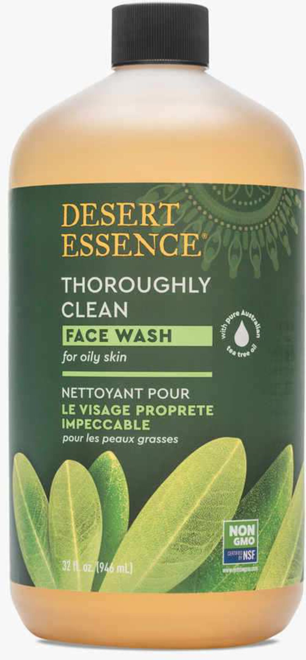 Tea Tree Oil Thoroughly Clean Face Wash for Oily/Combination Skin <p><b>From the Manufacturer's Label: </p></b><p>Desert Essence Thoroughly Clean Face Wash is a gentle cleansing solution that leaves your skin feeling clean and silky.  This unique face wash contains natural Organic Tea Tree Oil.  Included also are extracts of Goldenseal, Hawaiian White Ginger (Awapuhi) and the essential oil of Chamomile.  Mineral-rich Bladderwrack harvested from the sea, nourishe