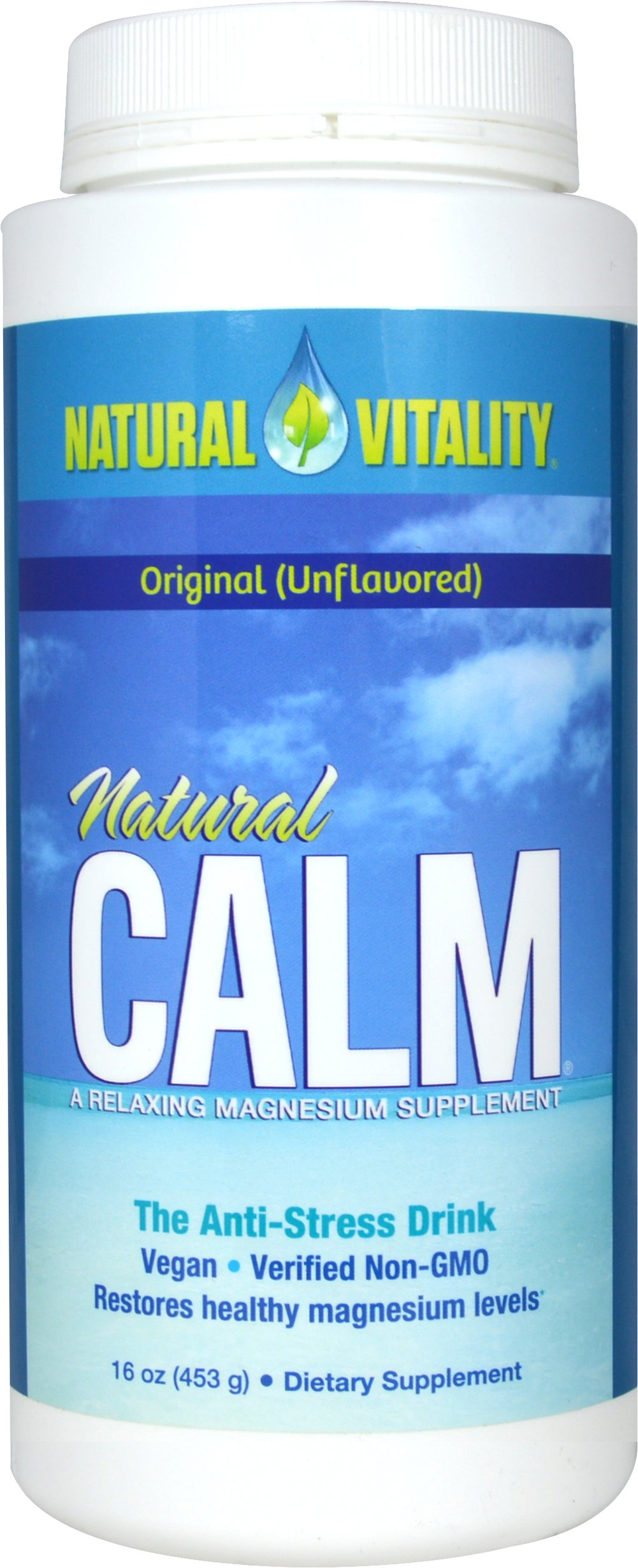 Natural Calm Original <strong>From the Manufacturer's Label:</strong> <p>Award-winning Natural Calm is the best-selling ionic magnesium supplement in the natural products market.</p><p>Manufactured by Natural Vitality</p><p></p> 16 oz Powder  $23.97