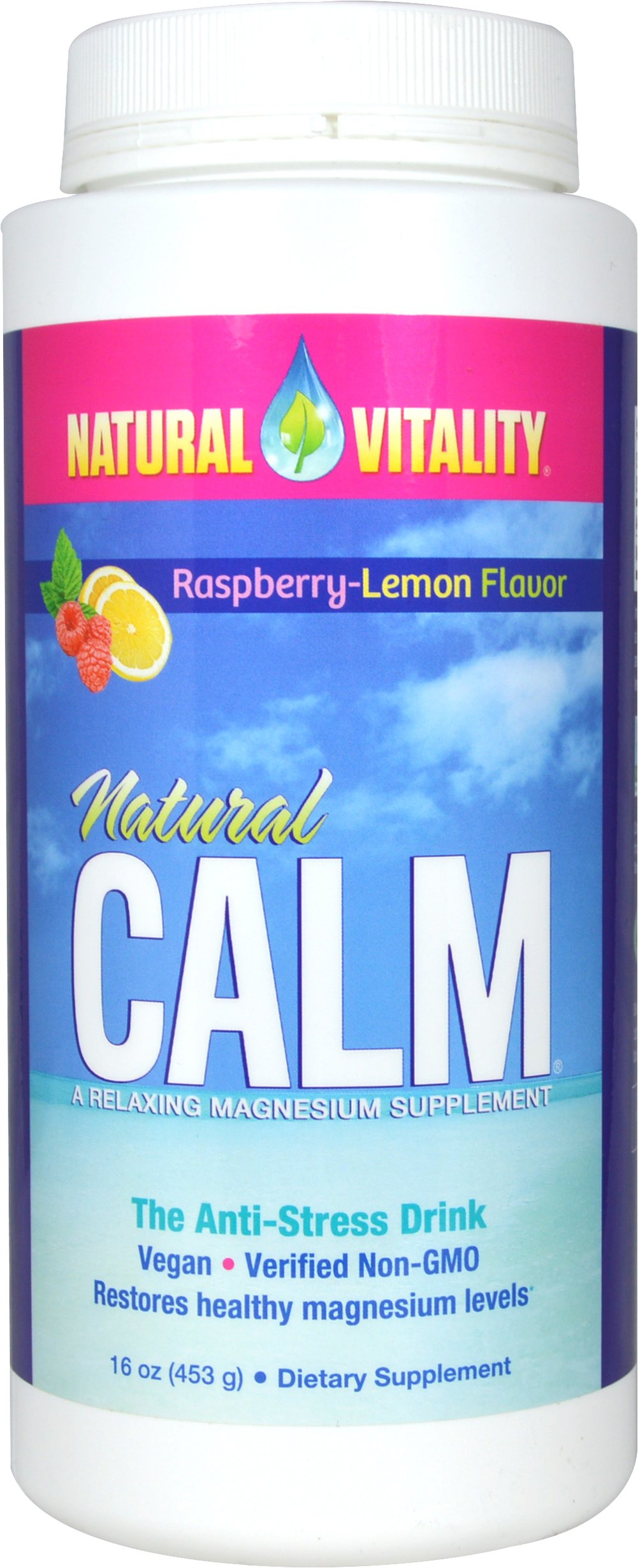 Natural Calm Raspberry-Lemon  16 oz Powder  $26.99