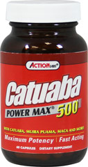 Catuaba Power Max® 500 mg <p><b>From the Manufacturer's Label:</b></p> <p>Catuaba Power Max is manufactured by Action Labs.</p> 60 Capsules 500 mg $12.99