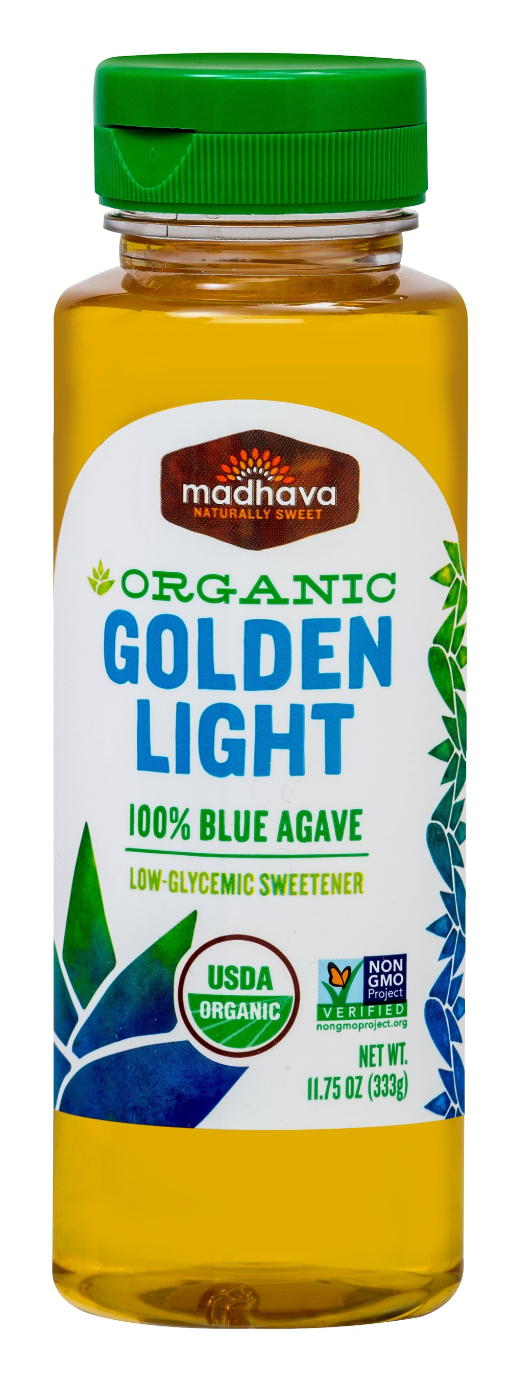 Organic Light Agave Nectar <p><strong>From the Manufacturer's Label: </strong></p><p>100% Pure Agave Nectar</p><p>Madhava's Agave Nectar has many qualities that make it ideal for all of your sweetening needs. Consistently delicious and mild in flavor. Dissolves quickly, even in cold food or drinks.  Best of all, it simply tastes great and enhances the flavors of any food it sweetens.  Enjoy!</p> 11.75 oz Bottle  $7.99