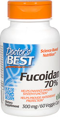 Best Fucoidan 70% <p>From the Manufacturer's Label:</p><p>Best Fucoidan 70% contains the gyconutrient fucoidan derived from brown algae.  Seaweeds are a part of the diet in many cultures and fucoidan-containing species have been used traditionally for a variety of therapeutic purposes.<br /></p><p>Manufactured by Doctor's Best</p> 60 Vegi Caps  $29.99