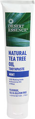 Desert Essence® Natural Tea Tree Oil Mint Toothpaste <p><strong>From the Manufacturer's Label</strong></p><p>Desert Essence Tea Tree Oil Dental Care Products are the perfect choice for your oral hygiene routine.  They contain no harsh abrasives, synthetic sweeteners or artificial flavors.  Formulated with simply pure and natural ingredients to keep your mouth feeling fresh and you feeling confident throughout the day.</p><p>Manufactured by Deser