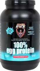 100% Egg Protein Strawberry <p><b>From the Manufacturer's Label: </p></b><p>The only 100% Egg Protein with 100% Egg White Protein and 100% Egg White Peptides and Amino Acids.</p> <p>Fact- Net protein utilization (N.P.U.) is also a proven scientific method which determines what percentage of the protein we ingest can actually be used for growth. Healthy 'N Fit(R) 100% Egg Protein has a higher N.P.U. than any other protein available anywhere.**<