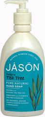 Tea Tree Satin Soap For Hands & Face <p><strong>From the Manufacturer's Label</strong></p><p>Tea Tree Satin Soap For Hands & Face is manufactured by Jason.</p> 16 fl oz Liquid  $6.49