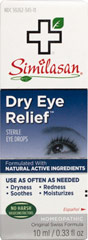 Dry Eye Relief™ Sterile Eye Drops <p><b>From the Manufacturer's Label: </p></b><p>Similasan® Dry Eye Relief™ Sterile Homeopathic Eye Drops:</p><p> Relieves Dryness, Clears redness, Soothes & Moisturizes.  Long Term, Healthy Relief.**</p>  10 ml Drops  $9.99