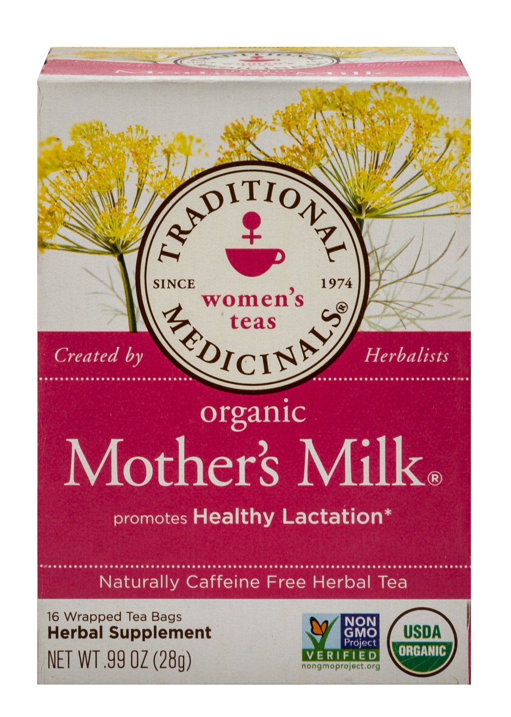 Organic Mother's Milk® Tea <p><b>From the Manufacturer's Label: </p></b><p>Caffeine Free</p>  <p>Promotes Healthy Lactation**</p>  <p>A pleasantly aromatic balance of sweet, spicy and slightly bitter</p>    <p>Organic Mother's Milk promotes healthy lactation and is traditionally used to increase breast milk production.** This traditional combination of anise, fennel and coriander has been used for centuries by Europea