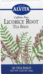 Licorice Root Tea <strong></strong><p><strong>From the Manufacturer:</strong></p><p>Caffeine Free</p><p>Licorice (Glycyrrhiza glabra) is a perennial herb indigenous to Greece, Italy, Spain, Syria, Iraq and southern China.  The root penetrates deeply into the ground and is the part of the herb that contains an abundance of valuable properties.  The botanical name for Licorice comes from the Greek Glykys (sweet) and rhiza (root), meaning sweet