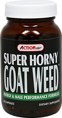 Super Horny Goat Weed Complex  <p><b>From the Manufacturer's Label:</b></p> <p>Super Horny Goat Weed Complex is  manufactured by Action Labs.</p> 60 Capsules  $15.99