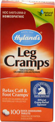 Leg Cramps with Cinchona (Quinine) <p><b>From the Manufacturer's Label: </p></b><p>Natural Relief for Cramps and Pains in Lower Back and Legs.**</p> <p>Manufactured by HYLANDS.</p> 100 Tablets  $8.99