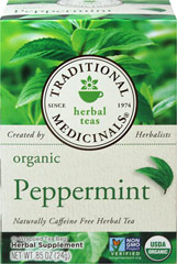 Organic Peppermint Tea <p><b>From the Manufacturer:</b></p> <p>Promotes Healthy Digestion**</p> <p>Caffeine Free</p>  <p>Peppermint tea promotes healthy digestion** by relieving mild gastrointestinal tract conditions that occur after eating.**</p>  <p>Mint leaves have been used in medicine for several thousand years according to records from Greek, Roman and ancient Egyptian eras.  Peppermint tea is traditionally used as a digesti