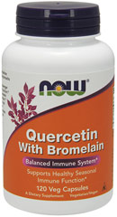 Quercetin with Bromelain 400 mg/100 mg <p><b>From the Manufacturer's Label:</b></p> <p>Quercetin is a naturally occurring bioflavonoid that supports healthy histamine levels, thereby helping to sustain a balanced immune response.**  Bromelain, an enzyme derived from pineapple stems, also supports healthy immune system function.**  The combination of Quercetin and Bromelain therefore provides powerful immunomodulating.** </p>  <p>Manufactured by Now&a