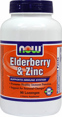 Elderberry & Zinc Lozenges <p><b>From the Manufacturer's Label:</b></p>  <p><b>Healthy Immune Function**</b></p> <p><b>Support for Seasonal Changes**</b></p>   <p>Each lozenge contains Elderberry Extract powder that is synergistically formulated with Zinc and Vitamin C for maximum effectiveness. Zinc is a trace mineral that plays an important role in supporting the immune system.** Echinacea, Propolis and Slipp