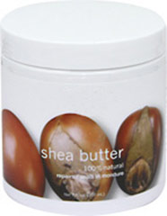 Shea Butter 100% Natural <p><b>From the Manufacturer's Label:</b></p>  <p>Condition: Dry, cracked or chapped skin in need of intense repair, especially on tougher areas such as the elbows, knees and feet.</p>  <p>Solution: Natural Shea Butter has a rich, luxurious texture that penetrates deep to condition and moisturize every type of skin. As a natural derivative of the karite trees that grow in Western and Central Africa, Shea Butter is a wonderful