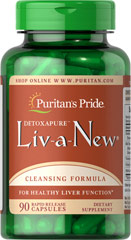 Liv-A-New® <p>LIV-A-NEW® is an exclusive formula that provides your liver with the blended strength of five ingredients—Milk Thistle, Trimethylglycine (TMG), N-Acetylcysteine, Alpha Lipoic Acid and Dandelion—to support liver function.** Adults can take one capsule up to three times daily.</p> 90 Capsules  $18.99