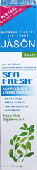 Jason® Sea Fresh® All Natural Toothpaste <p><strong>From the Manufacturer's Label:</strong></p><p><strong>All Natural Sea-Sourced Toothpaste</strong></p><p>No Fluoride </p><p>Great Taste!</p><p>Get fresh breath and healthy gums with Sea Fresh® Toothpaste!  This potent combination of Spearmint and Parsley Extracts provide an exhilarating taste, leaving your breath fresh and clean! </p><p>Manuf