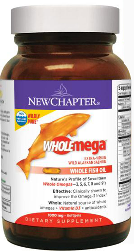 Wholemega whole fish oil 1000 mg 60 softgels fish oils for New chapter fish oil