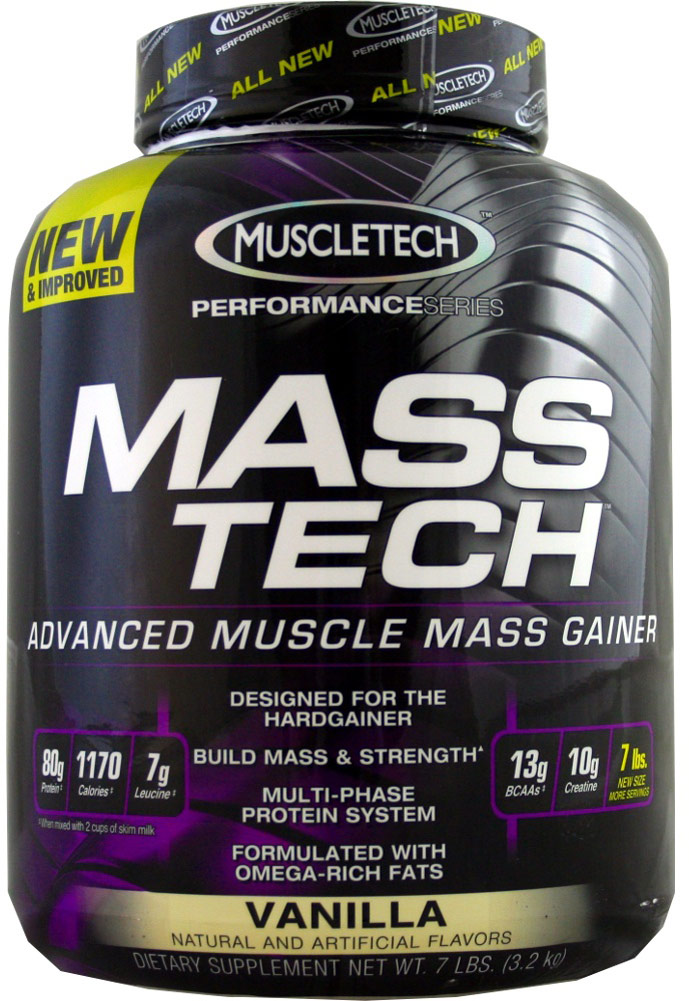 MuscleTech Mass-Tech Vanilla-7 lb Powder 003437