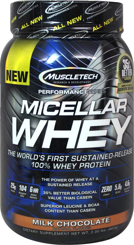 """אבקת חלבון מאסלטק מייסלר וואי 0.9 ק""""ג MuscleTech Micellar Whey"""