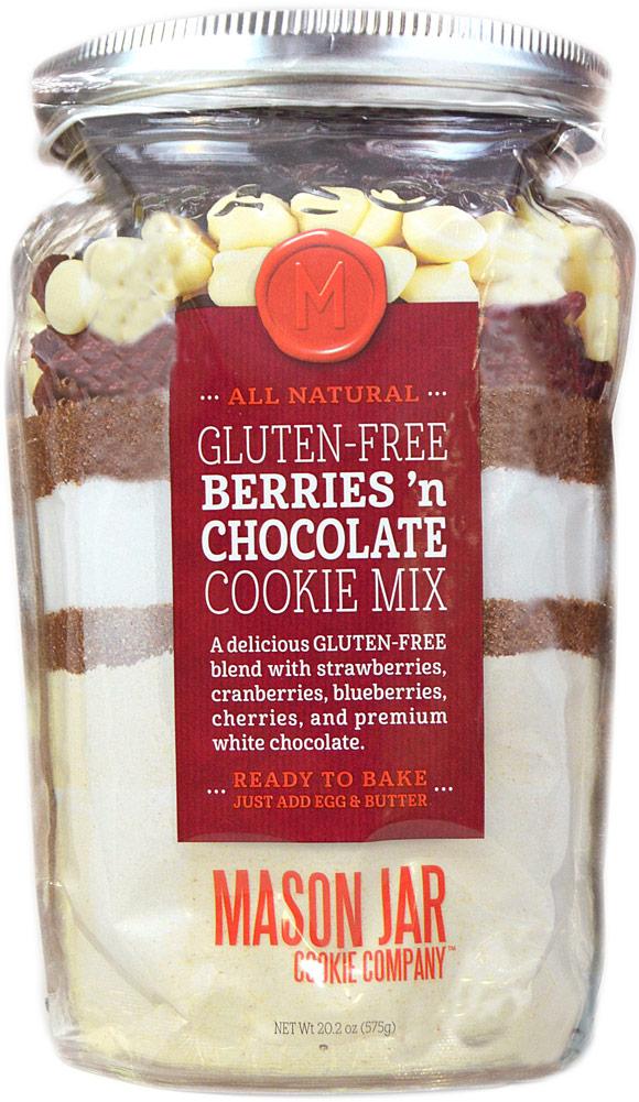 Mason Jar Cookie Company Gluten Free Berries n' Chocolate Cookie Mix-20.2 oz Bag 012006