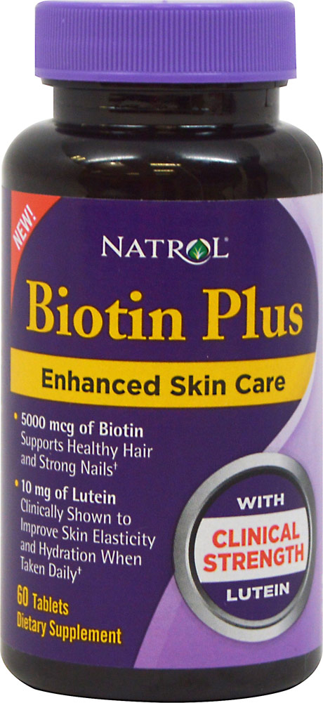 Natrol Biotin Plus with Lutein-60 Tablets 020131