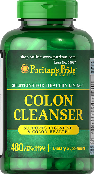 Puritan's Pride 3 Units of Colon Cleanse Caps-480-Capsules