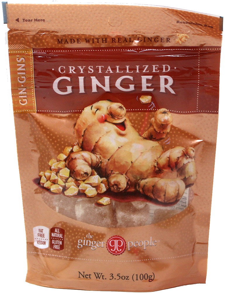 Ginger People Crystallized Ginger Candy-3.5 oz Bag 060983