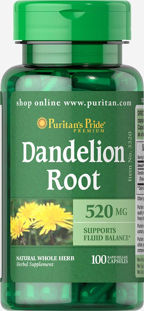 Herbal Supplements: Dandelion Root 520 Mg