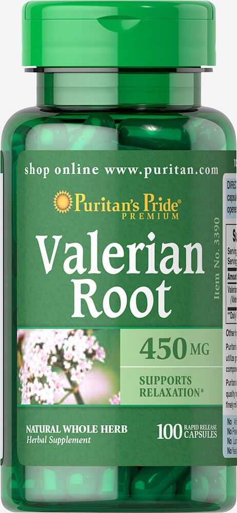 Valerian Root 450 Mg 100 Capsules