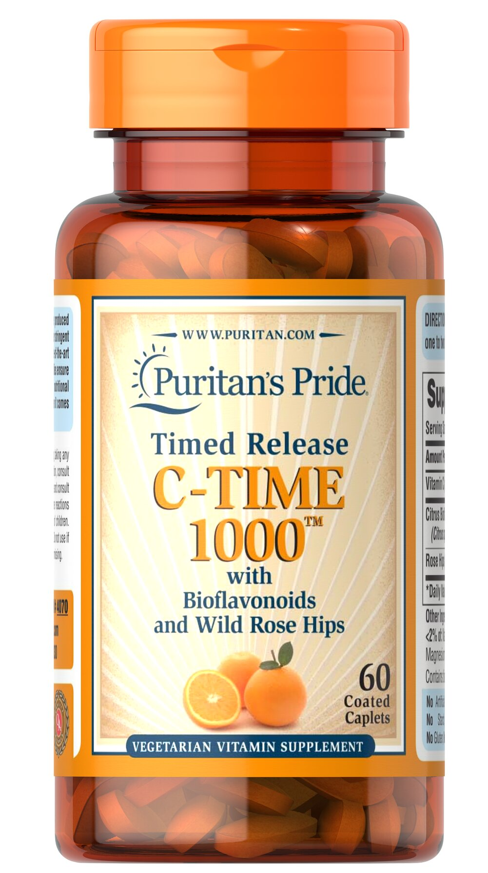Vitamin C-1000 mg with Rose Hips Timed Release 60 Caplets ... Traditional Medicinals Tea